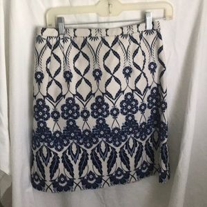 J  Crew pencil skirt fully lined with back zipper.
